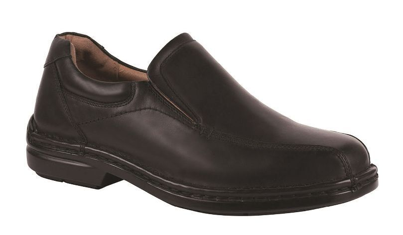 Mens HUSH PUPPIES WARWICK Black EXTRA WIDE FORMAL DRESS WORK LEATHER SHOES