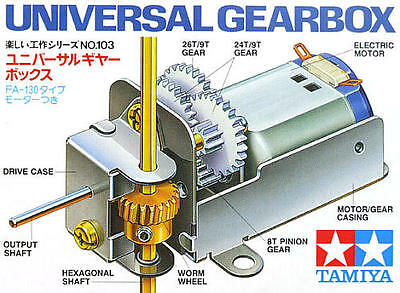 Tamiya #70103 Universal Gear Box Set For RC DIY Construction/Robotics Model Kit