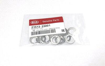 SET of 10 Kia Oil Pan Drain Plug Gaskets Crush Washers OEM 21513-23001