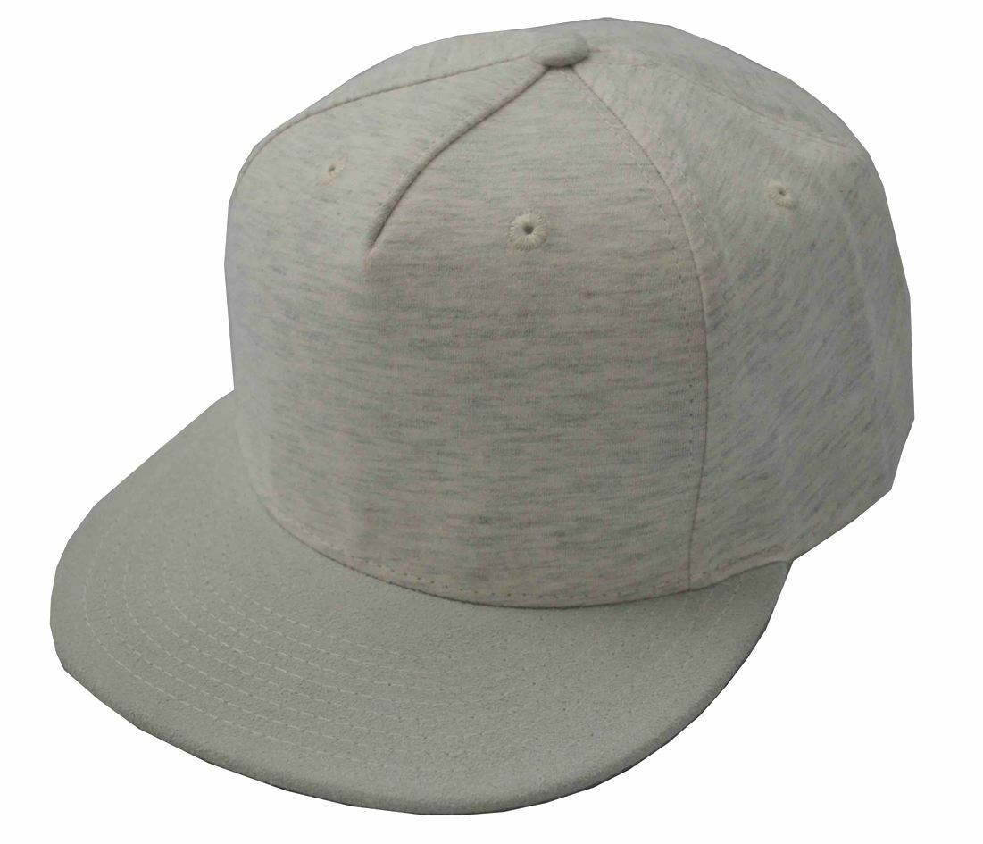 d3db3b61f7d Heather Jersey Knit 5 Panel Baseball Cap Flat Bill Hat Decky 1132
