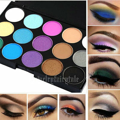 Pro 15 Color Cosmetic Eye Shadow Pigments Makeup Eyeshadow Palette Matte Set