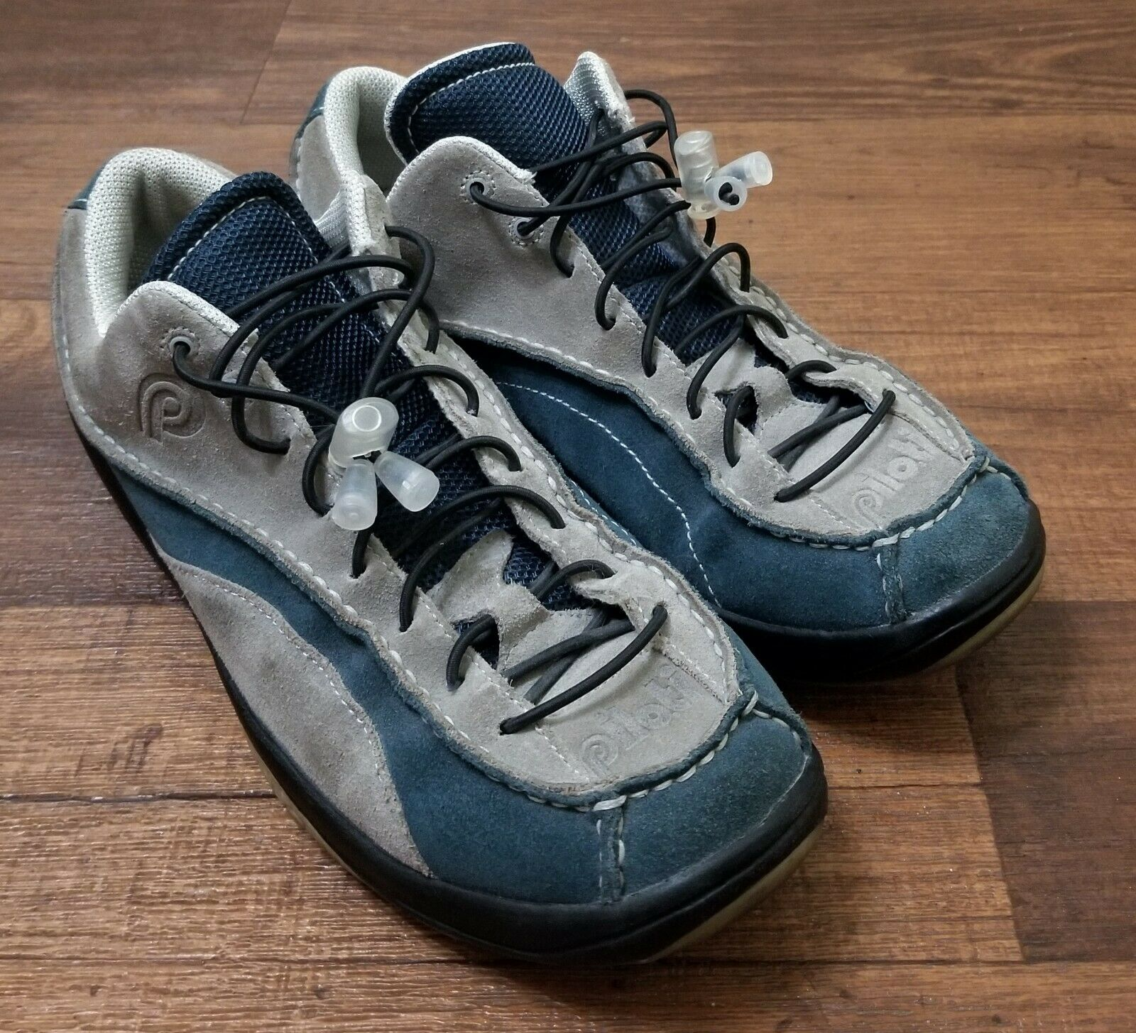 PILOTI 2 Tone blueE Grey SUEDE Stradale CL Racing DRIVING SHOES Size 9 US EUC