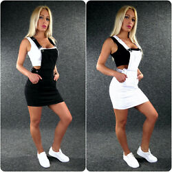 Stretch Jeans LATZROCK Damen XS S M L XL ZAZOU Jeansrock Rock Jeanskleid ZB170