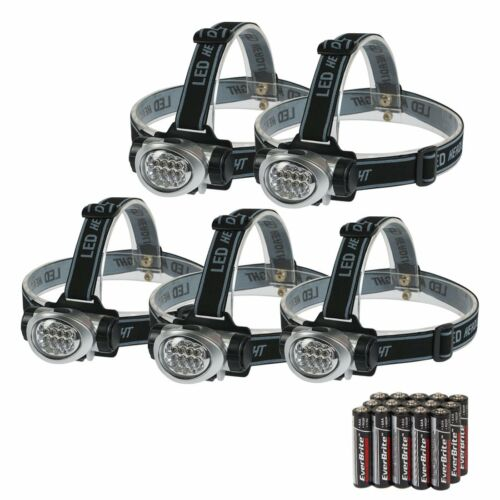 EverBrite 5-Pack LED Headlamp Flashlight for Running Camping Reading Fishing,