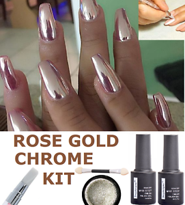Image Is Loading Mirror Powder Chrome Effect Pigment Nails New