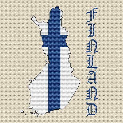 "India Map /& Flag Cross Stitch Design 15x15cm, 6x6/"", kit or chart, 14hpi"