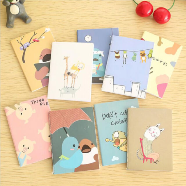 Mini Portable Cute Cartoon Notebook Handy Pocket Notepad Paper Journal Diary a
