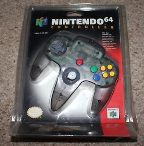 Smoke-Clear-Grey-Nintendo-64-Controller-Official-NEW-Factory-Sealed-2-Near-Mint