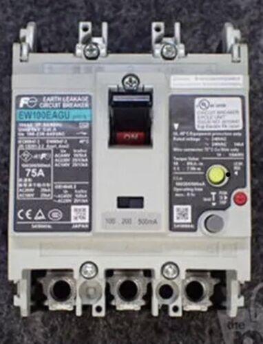 Fuji Electric EW100EAGU-3P075 Earth Leakage Circuit Breaker  75A 3Pole 240VAC