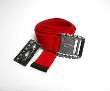Oakley Belt Mens Vault Web Red 100% Cotton Adjustable One Size Metal Buckle