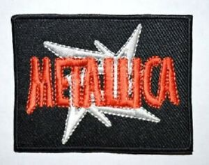 Metallica Red & White Iron on/Sew on Embroidered Patch