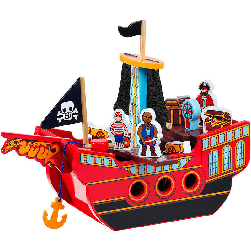 Lanka Kade Pirate Ship Playset 14 Piece set