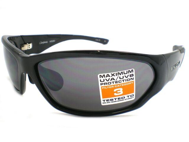 BLOC wrap Sunglasses CALIFORNIA X500 Jet Black / Grey-Flash MIRROR Lens CAT.3