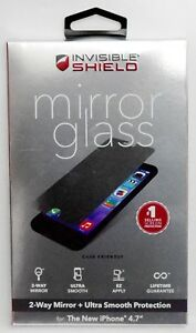 New Zagg Invisibleshield Iphone 6 6s Mirror Glass Screen Protector