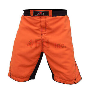4Fit™ MMA Fight Shorts UFC Cage Fight Grappling Muay Thai Boxing Orange XS-3XL