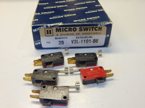 MICROSWITCH V3L-1101-D8 SNAP IN LIMIT SWITCH - YOU GET 1 SWITCH FAST SHIP
