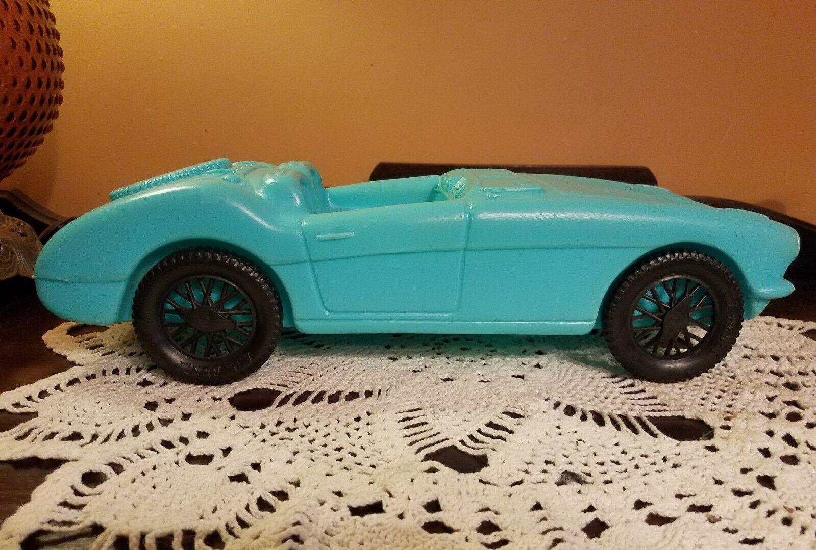 Vintage 17  1960s A.J. Renzi Azul Austin Healey Plástico Auto blowmold Golpe de molde