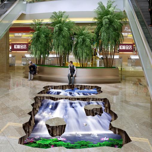 3D Waterfall Egret 786 Floor WallPaper Murals Wall Print Decal AJ WALLPAPER US