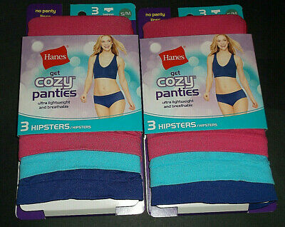 6 Womens Underwear Size  S//M 5//6 Cozy Seamless HIPSTERS