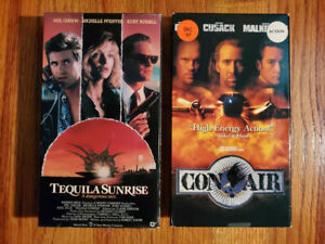 Lot2 Tequila Sunrise 1988 Con Air 1997 Vhs Rare Original Oop Action Drama Fun Ebay