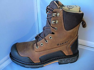 "Ariat Men's 10012945 Overdrive™ XTR 8"" w/ Side Zip Steel Toe Work Boots"