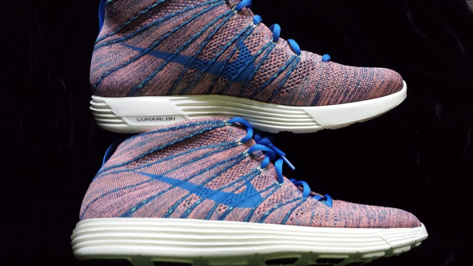 New NIKE MENS LUNAR FLYKNIT CHUKKA +  BRAVE BLUE MINERAL TEAL Size 10.5