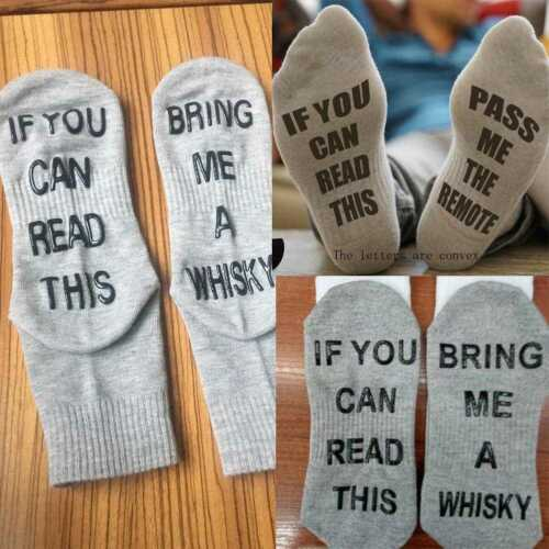 If You Can Read This Bring Me a whisky Sock Women/'s Men/'s Unisex Socks Dres V4D6