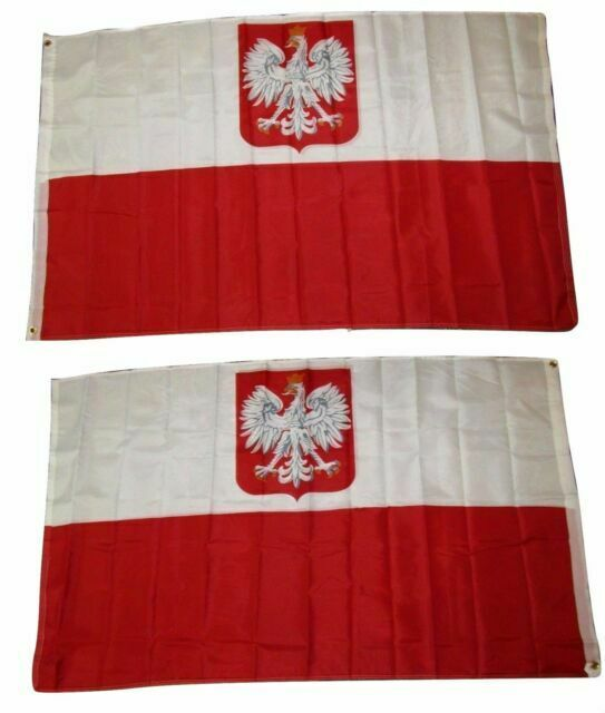 3x5 Poland Polska Eagle 210D Nylon Flag 3/'x5/' w// Pin and Clips