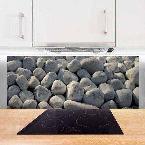 Küchenrückwand aus Glas ESG Spritzschutz 125x50cm Steine Kunst