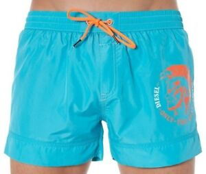 bb275a46f2 Image is loading Diesel-Swim-Shorts-Wave-Turquoise-Aqua-Blue-Beach-