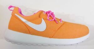 45412e8ca6922 Nike Girls  Grade School ROSHE ONE Casual Shoes Mango 599729-800 a2 ...