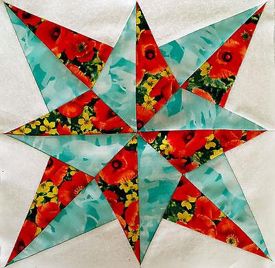 Die cut Blazing star Quilt block kit #K006L