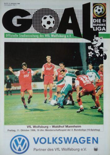 Waldhof Mannheim Programm 1996//97 VfL Wolfsburg