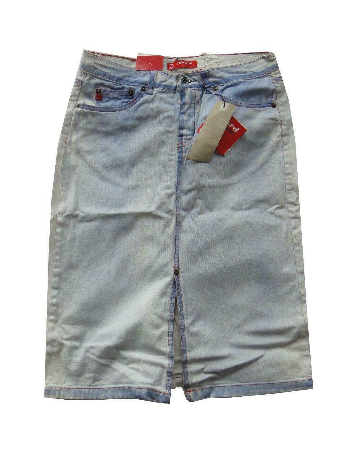 25481 Damen Rock Jeans Phard Gr. 34 hell blau