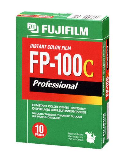 FujiFilm FP-100C Instant Colour Film - Professional Unopened Exp: 2012-11