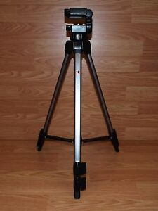Ambico-42-034-Black-Silver-Lightweight-Portable-Adjustable-Camera-Tripod-READ