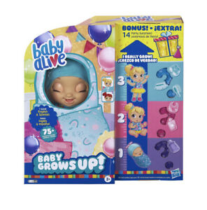 BABY ALIVE BABY GROWS UP + BONUS PACK DOLL HAPPY HOPE OR MERRY MEADOW PREORDER!