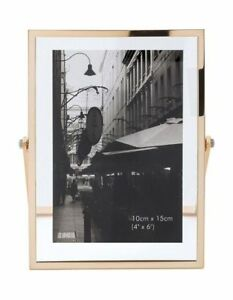 NEW Vue Abbie Gold Glass 10 x 15 cm Photo Frame