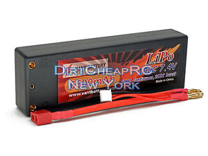 7.4V 6500mAh 100C HIGH POWER HardCase LiPo Battery Slash 4x4 Losi SCTE TKPC0616