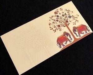 Ivory Cream Money Gift Envelope Wedding Invites Cash Gift Elephant