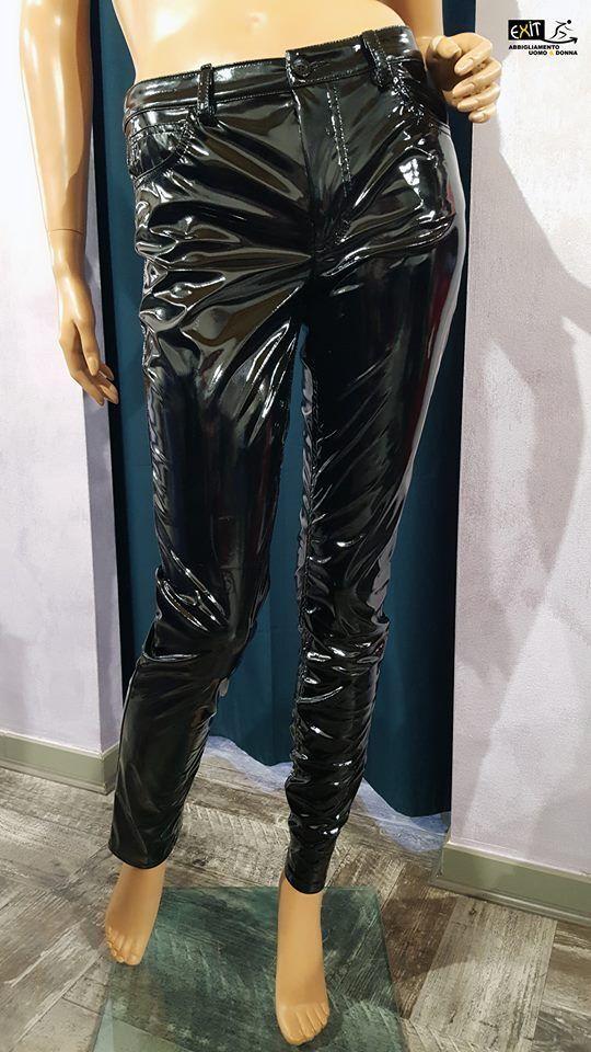 Denny Rose pantalone in vernice art. 722DD20040 collezione evening 2017