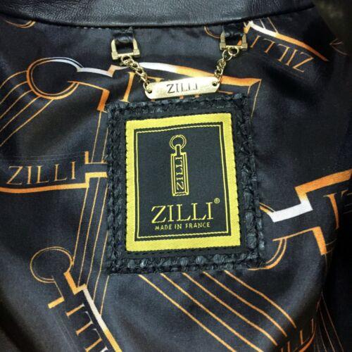 Real negra Cazadora Zilli aviador Leather Genuine Python Handmade de Men Cavalinho FwwAPY6rBq
