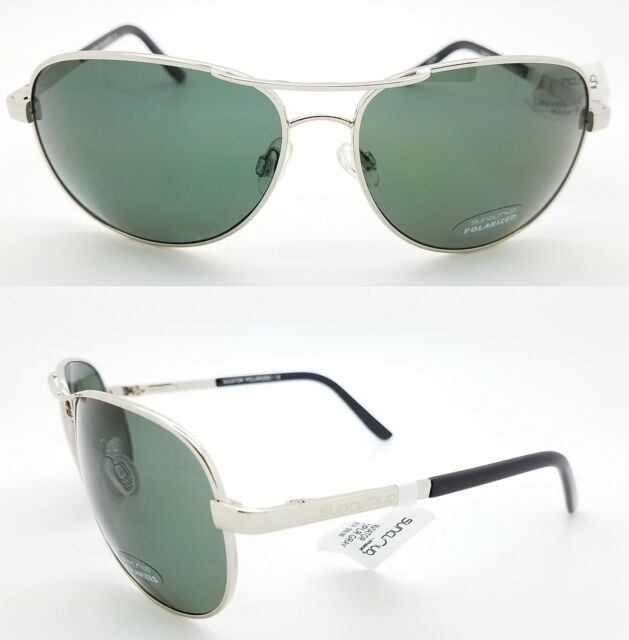 a07e9e31862 NEW Suncloud sunglasses Aviator Silver Grey Polarized Unisex Large Gray  chrome