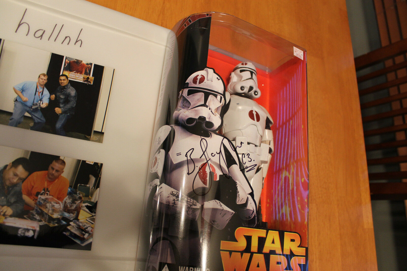Star Wars Revenge of the SIth 12  Clone Trooper Signed Bodie Taylor Autograph