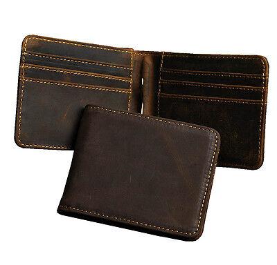 Portefeuille Homme Cuir carte ID Porte Monnaie Carnet de chèques argent-Clip