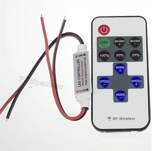 1Pcs Switch Control Dimmer Wireless Remote For Mini Led Strip Light 11 Keys 5 xr