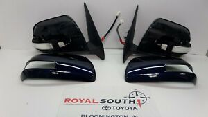 Toyota Tacoma 12-13 Nautical Blue Outer Mirror w/Turn Signal Set Genuine OEM OE
