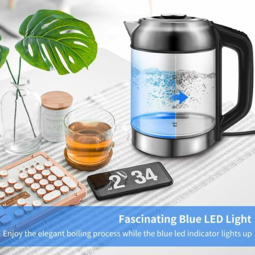 Bouilloire Électrique Verre Inox 7L Thermostat Réglable LED Maintient Chaud