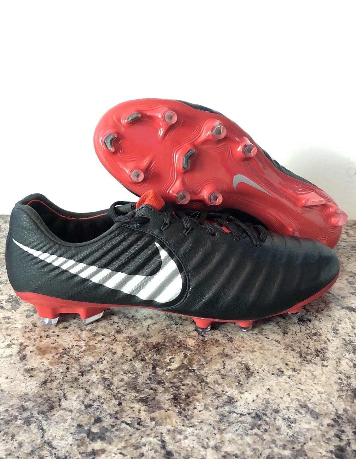 Nike tiempo legend 7 Elite Fg Botines De Fútbol Negro Metalizado Talla 8 AH7238-006 Acc