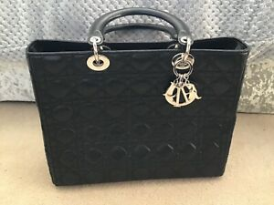 d3605ea7edc8a Image is loading Genuine-Large-Lady-Dior-Lambskin-Tote-Bag-in-